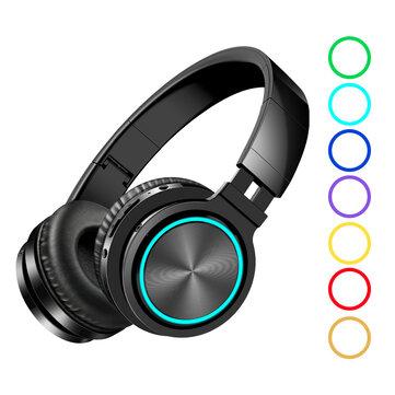 BlitzWolf AIRAUX AA ER1 bluetooth 5.0 Graphene Headphone Foldable RGB Earphones Over Ear Stereo Wireless Headset Built in Mic For Phones Computer