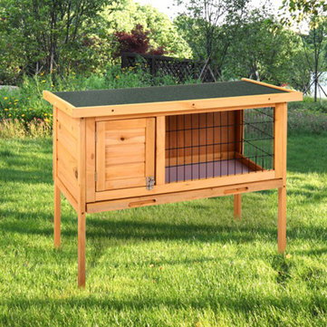 Buy Wooden Rabbit Hutch Waterproof Indoor Outdoor Rabbit House Chicken Coop Hen House Poultry Pet Cage with Litecoins with Free Shipping on Gipsybee.com