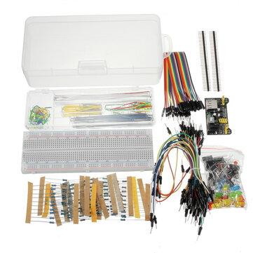 Geekcreit® Power Supply Module 830 Hole Breadboard Resistor Capacitor LED Kit For Arduino Beginner