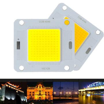 LUSTREON 20W 30W 50W Putih Hangat Putih 120LM / W COB LED Chip Sumber untuk Banjir Cahaya DC30-40V