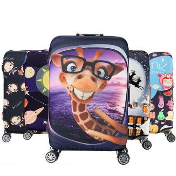 Honana कार्टून प्यारा पशु लोचदार सामान कवर ट्रॉली केस कवर टिकाऊ सूटकेस रक्षक 18-32 इंच केस गर्म यात्रा स