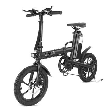 CMSBIKE F16 PLUS 13Ah 250W Black 16 Inches Folding Electric Bicycle 25km or h 80km Mileage Intelligent Variable Speed System Electric Bike