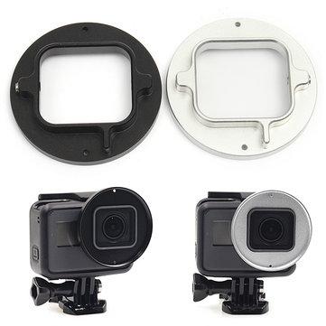 Aleación de aluminio 52 mm filtro de buceo Lente anillo adaptador accesorio para Gopro Hero 5/6 acción Cámara