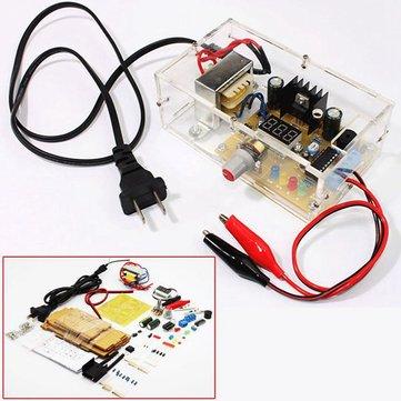 LM317 Adjustable Voltage EU 220V Power Supply Module Kit Electronics DIY Spare Parts