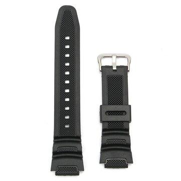 18mm Original Watch Strap Band For Casio SGW-300H SGW-400H SGW-300 SGW-400 Black