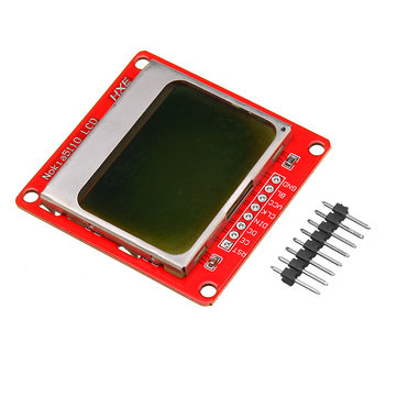 5110 84x48 LCD Display Module White Backlight For UNO Mega Prototype Geekcreit for Arduino - products that work with official Arduino boards