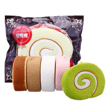 Cake Squishy Swiss Roll 7cm långsammare rolig gåva samling med förpackning