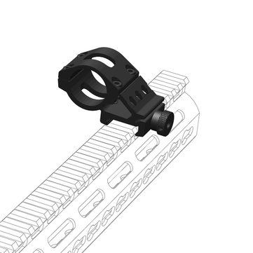 Weltool PM1 Aluminum Alloy Lightweight Flashlight Picatinny Rail Mount Torch Tactical Side Mounts Clamp