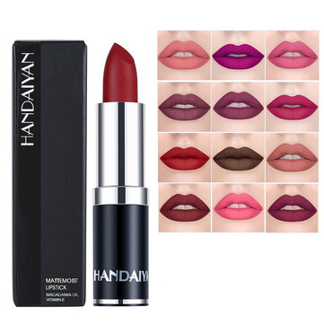 12 Color Velvet Matte Lip Stick Moisturizer Lip Makeup Long-Lasting