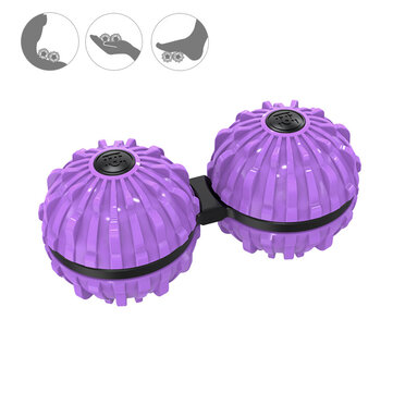 2 Pcs Siamese Massage Balls 35.6mm ABS Yoga Palm Rotation Decompression Tool for Deep Tissue Massage