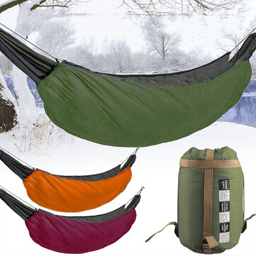 Camping Hammock Podchlazení venkovní zimní dolů Teplá spací pytel Přenosný skládací houpací klobouk