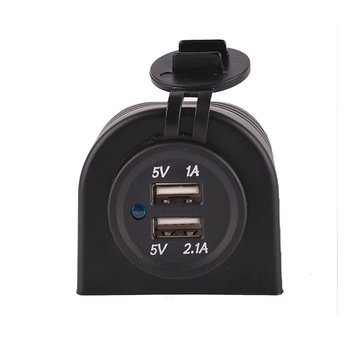 C852 5V 3.1A Car Dual USB Charger Cigarette Lighter Adapter Socket