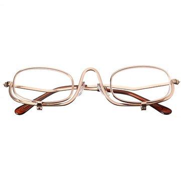 Förstoringsglasögon Läsning Glasögon Ögon Spectacles Flip Down Lens Folding Kosmetiska Läsare