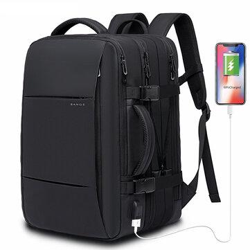 BG-1908 16'' 40L Expandable Large Capacity USB Tactical Backpack 15.6 inch Laptop Bag Waterproof Camping Travel Rucksack FAA Flight Approved Weekender Bag Trunk for Women Men