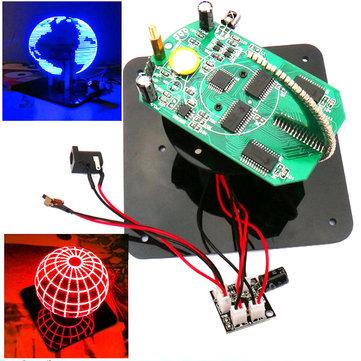 Geekcreit® DIY Spherical Rotating LED Kit POV Soldering Training Kit