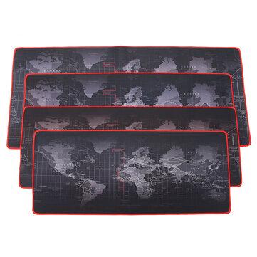 Bản đồ thế giới chống trượt lớn 2 mm Chuột Pad Mat với Red Hem cho PC Bàn phím máy tính