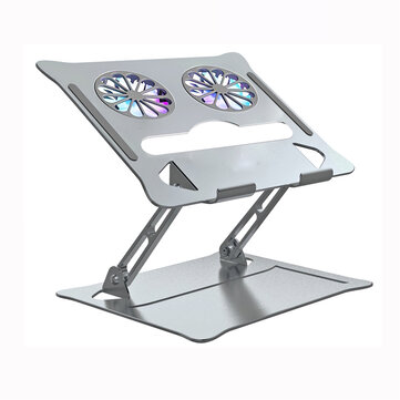 How can I buy Foldable Laptop Stand with 2 Cooling Fans Aluminium Alloy Adjustable Height Computer Holder Portable Notebook Metal Mount Compatible with MacBook Air Pro All Laptops 10  18 with Bitcoin