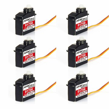 6PCS AFRC D1708 4.3g Micro Plastic Gear Digital Servo With JR Plug For RC Airplane Helicopter Robots