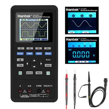 Hantek 3in1 Digital Oscilloskop + Waveform Generator + Multimeter Portabel USB 2 kanaler 40mhz 70mhz LCD-skärm Testmätare Verktyg Ultra-low Kraft Design med stor kapacitet litiumbatteri En-knapp AUTO