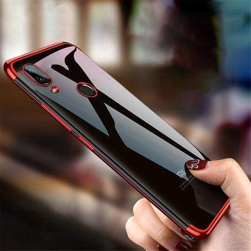 Bakeey ™ Plating Transparent Antichoc Soft Housse de protection en TPU pour Xiaomi Redmi Note 7 / Note 7 Pro