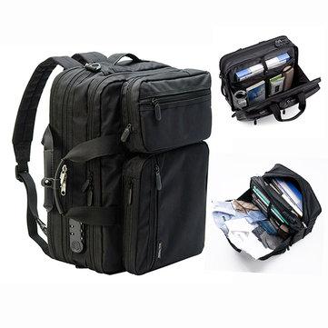 E Ekphero Men Anti-theft Briefcase Expandable Multi-pocket Waterproof Laptop Bag Large Capacity Backpack