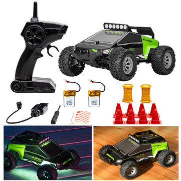 S638 with 2/3 Battery 1/32 2.4G 4CH Full Scale Mini RC Car Dual Motor Off-Road Vehicles Kids Child Toys LED Light Model