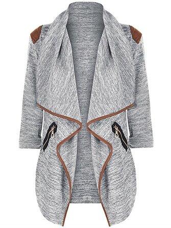 Casual Women Zipper Pocket Long Sleeve Cardigans