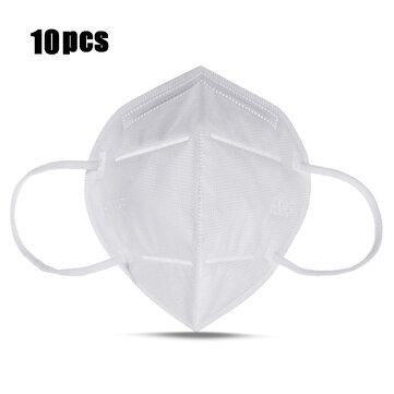 10Pcs KN95 4-Layer Self-priming Filter Respirators Face Mask Breathable Dust Filter Masks