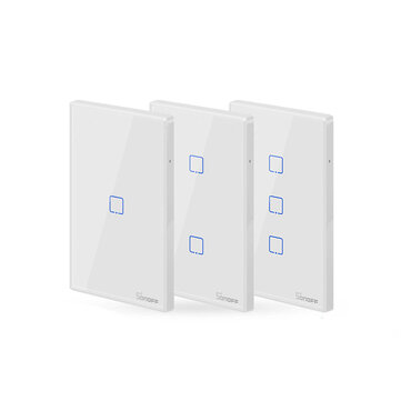 SONOFF® T2 EU/US/UK AC 100-240V 1/2/3 Gang TX Series 433Mhz WIFI Wall Switch RF Smart Wall Touch Switch For Smart Home Work With Alexa Google Home