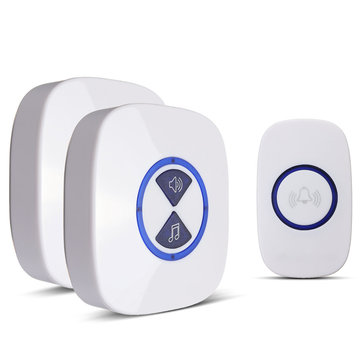 Waterproof Wireless Cordless LED Flash Doorbell Chime Ringer 36 Melodies 150M
