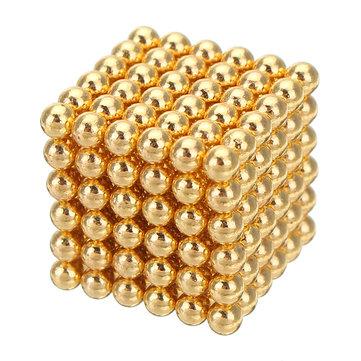1000 PCS Per Lot 5mm Magnetic Buck Bola Magnet Warna Emas Cerdas Stres Reliever Mainan Hadiah Emas