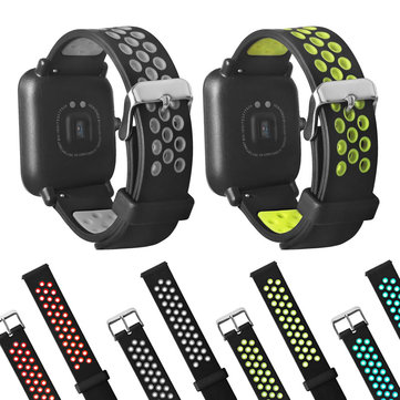 20mm Double Colors Silicone Replacement Watch Band Strap For Huami Amazfit Bip