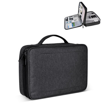 SM02 Nylon Waterproof Portable Multi functional Laptop Storage Bag Electronic Accessories Travel Organizer Bag Data Cable Organizer Coupon Code and price! - $20