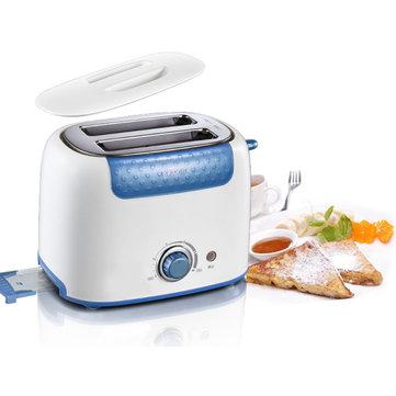Bear 2-Slice Bread Sandwich Toaster Stainless Steel Kitchen Baking Breakfast Bread Maker