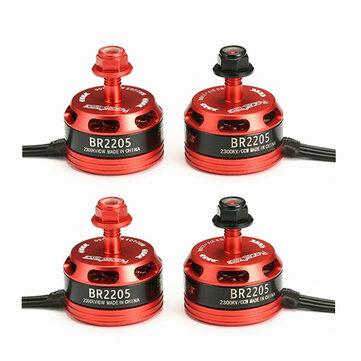 4X Racerstar Racing Edition 2205 BR2205 2300KV 2-4S Brushless Motor 2 CW & 2 CCW For QAV250 ZMR250
