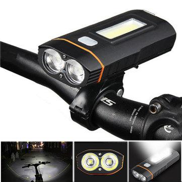 XANES DL04 1000LM Dual T6 Đèn xe đạp tiêu chuẩn Đức Đèn trước COB 150 ° Đèn pha điện thoại Sạc điện Ngân hàng