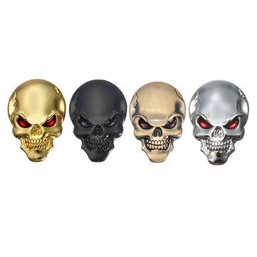 Banggood 3D Demon Skull Metal Stickers Bone Emblem Badge Decals for Car Motor Truck