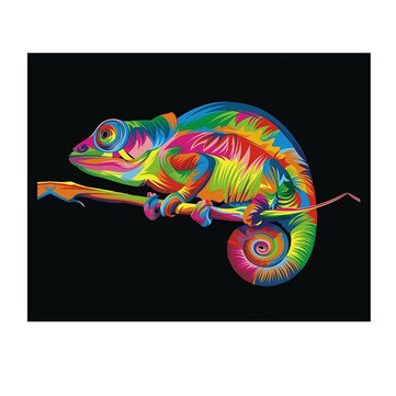 DIY 5D Diamond Painting Colorful Chameleon Art Craft Kit Handmade Wall Decorations Gifts for Kids Adult