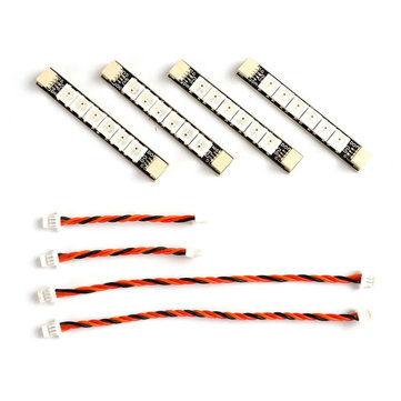 4 PC Matek System WS2812ARM-6 5V WS2812 LED Strip RC Night Light w/ 6 Lamps for RC Drone FPV Racing