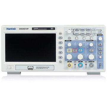 Hantek dso5072p de almacenamiento digital de 2channels osciloscopio de 70MHz 1GSa / s 7 pulgadas TFT LCD