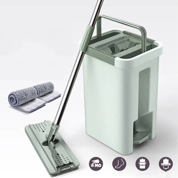 Dry & Wet 360° Roatation Automatic Spin Mop Dust Fast Dry Flat Mop Floor Cleaner for sale in Bitcoin, Litecoin, Ethereum, Bitcoin Cash with the best price and Free Shipping on Gipsybee.com