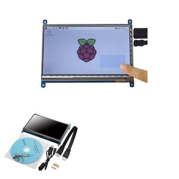 Geekcreit® 7 Inch 1024 x 600 HD Capacitive IPS LCD Display 5 Point Touch Screen Support Raspberry pi / Banana Pi / Beaglebone Black