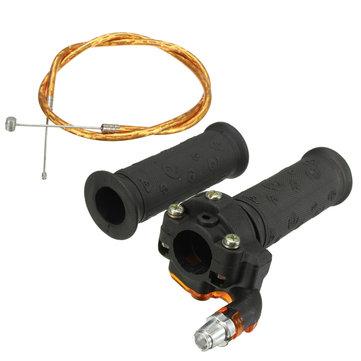 Juego de cable de acelerador giratorio restringible para 47cc 49cc Mini Moto Bike Dirt Bike Cuad