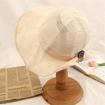 Phụ nữ mùa hè có thể gập lại nút kỳ nghỉ Mũ Visor Mũ chống tia cực tím bảo vệ mũ người cá
