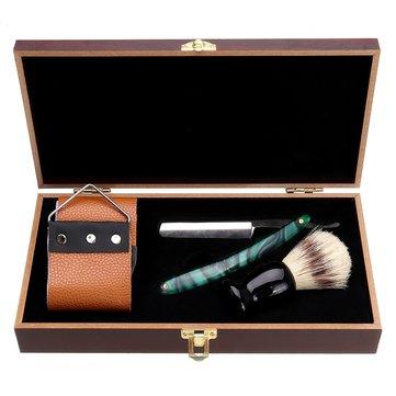 1X Shaving Straight Razor Set Box Beard Shaver Brush Sharpen