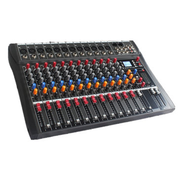 Bakeey 6/8/12/16 Channels Professional Audio Mixer 6 Music Modes USB bluetooth Mixing Console Amplifier For Live Studio KTV Party Recording DJ