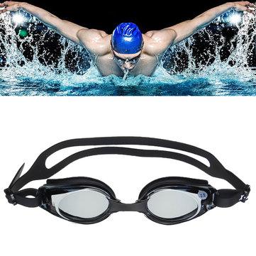 Gafas de natación de la prescripción antiniebla ULTRAVIOLETA prueba miopizada Gafas miopes Lente deportes acuáticos