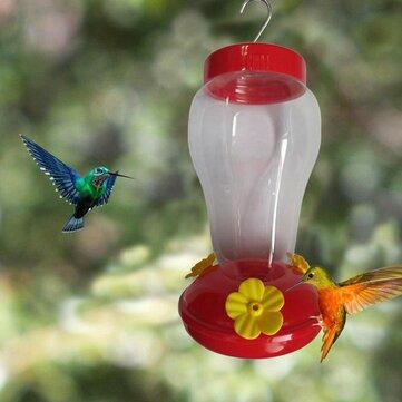 Buy Bird Water Feeder Bottle Hanging Hummingbird Feeder Garden Outdoor Plastic Flower Iron Hook Bird Feeder For Outside/Inside with 11 on Gipsybee.com