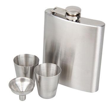 KCASA 8 Oz Set Hip Flask Stainless Steel With Funnel Hip Pocket Flagon Whiskey Brandy Vodka Pot Men Portable Liquor Flask wineBottle Great Gift For Birthday