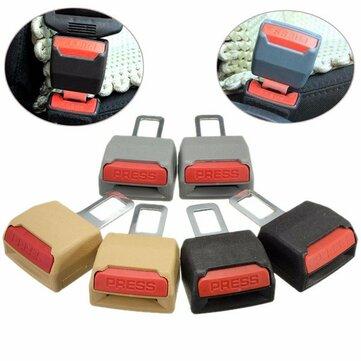 1 Cặp thay thế phổ quát An toàn xe hơi Dây an toàn mở rộng Hỗ trợ Clip Buckle